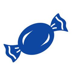 blue bonbon icon simple style vector image