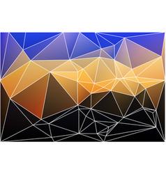 blue yellow orange black geometric background vector image
