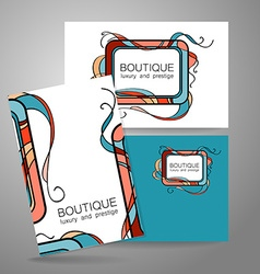 Boutique luxury prestige logo vector image