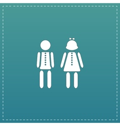 Boy and Girl icon vector image