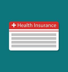 Card health insurance icon medical vector