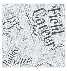 Career in college medical Word Cloud Concept vector