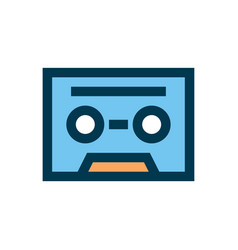cassette icon sign symbol vector image