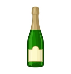 Champagne bottle vector image