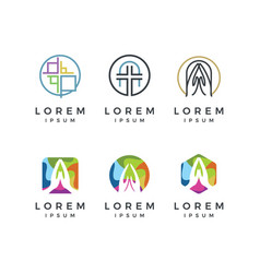 Church logo collection vector