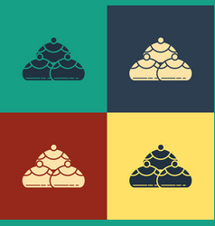 color jewish sweet bakery icon isolated on color vector image