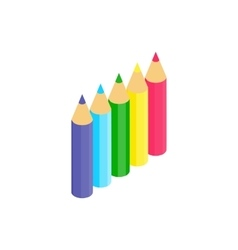 Colored pencils icon isometric 3d style vector image