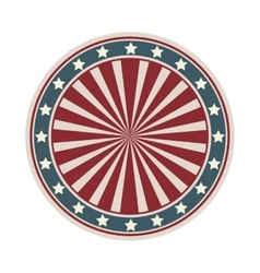 Dartboard with american flag desing vector