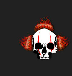 death clown head vector image