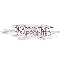 Disappointment word cloud concept vector