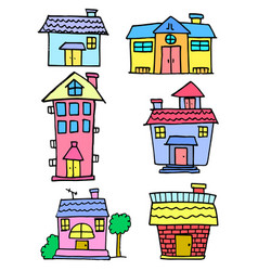 Doodle of house set design art vector