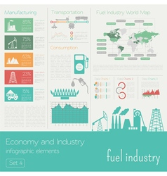 Economy and industry Fuel industry Industrial vector image