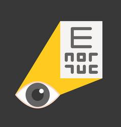 Eye examination or optometry medical and hospital vector