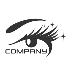 Eyelashes eye logo vector