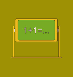 Flat icon with thin lines blackboard vector