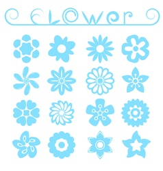Flower ornaments set vector image
