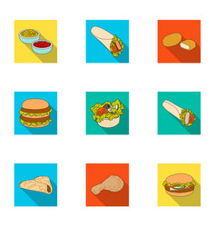 food lunch fast and other web icon in flat style vector image