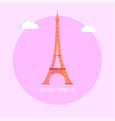 gorgeous eiffel tower from paris made metal vector image
