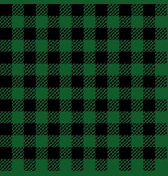 green lumberjack seamless pattern vector image
