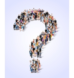 Group of people question poster vector