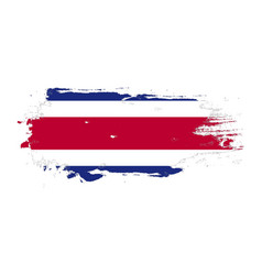 Grunge brush stroke with costa rica national flag vector