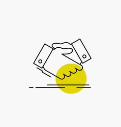 Handshake hand shake shaking hand agreement vector