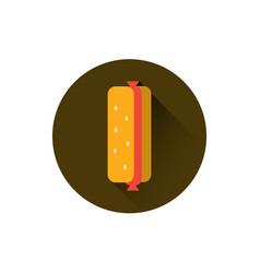 hot dog icon fast food street meal concept vector image