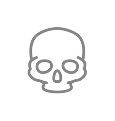 human skull line icon bone structure head vector image