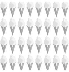 Ice cream cone pattern icon vector