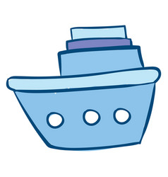 Image azure boat or color vector
