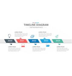Infographic 5 steps modern timeline diagram vector