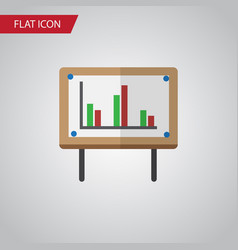 isolated chart flat icon whiteboard vector image