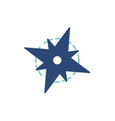 japanese shuriken colour icon colours vector image