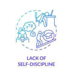Lack self discipline concept icon vector