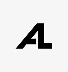 Linked logo al flat logo design ideas template vector