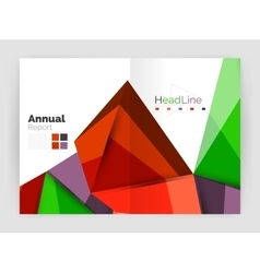 Low poly triangle business background vector image
