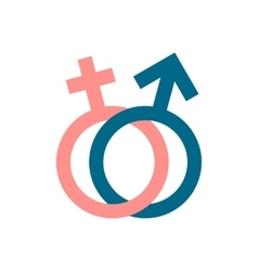 Male and female signs icon vector
