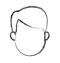 Man profile cartoon faceless person character vector