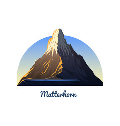 Matterhorn mountain peaks landscape early in a vector