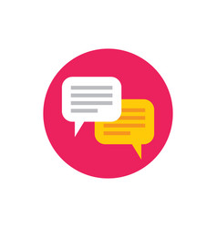 message speech bubbles - concept icon in flat vector image