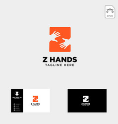 Minimal z letter initial hand logo template icon vector