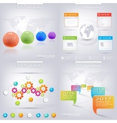 modern infographic design business concept vector image