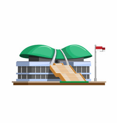 mprdpr building indonesia government vector image