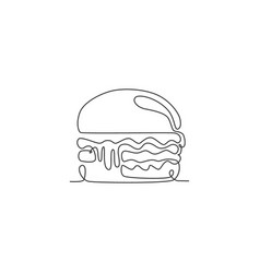 one continuous line drawing fresh delicious vector image