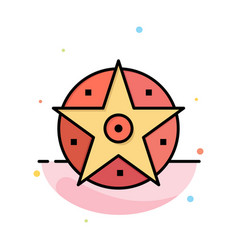 pentacle satanic project star abstract flat color vector image
