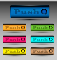 Push button template vector
