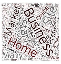 Quicker Home Business Profits text background vector image
