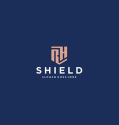 Rh shield logo vector