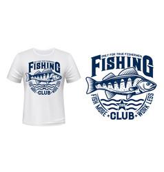 Seaking perch fish t-shirt print vector