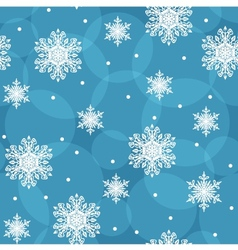 Seamless background with snowflakes eps10 vector image